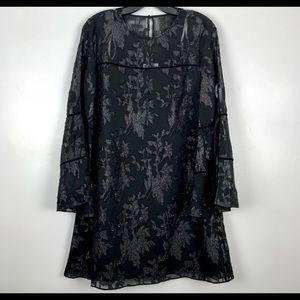 Laundry By Shelli Segal Women's Long Sleeve Black